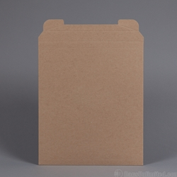 "Rigid Mailer .037"" thick Brown Kraft. 12-1/2 x 14-1/2""."