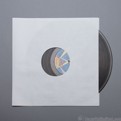 12'' White Paper Record Sleeves. Fits directly over 12'' records.