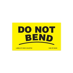 Label - DO NOT BEND