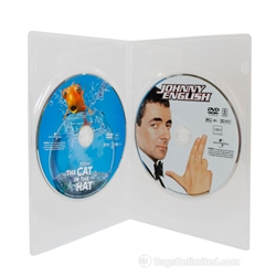 Slimline Double DVD Case - Clear
