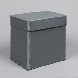 78 Record Storage Box, Blue-Gray Barrier Board