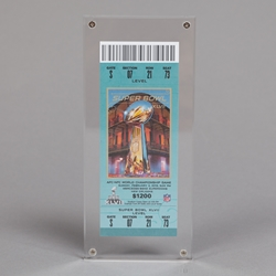 Ticket Stub Acrylic Screwdowns