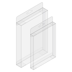A2 Greeting Card Crystal-Clear Box with Hang Slot