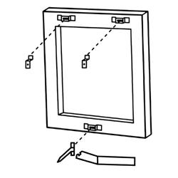 Security Hanger Sets For Wood Frames