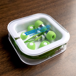 Color Pop Earbuds. Come in plastic case.
