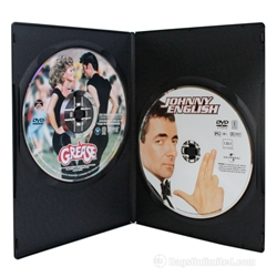 Slimline Double DVD Case - Black