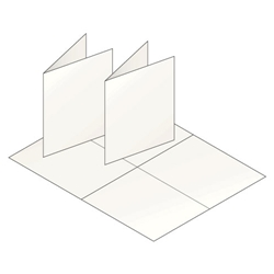 A2 Blank White Greeting Card Stock