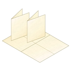 A2 Blank Cream Linen Greeting Card Stock