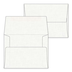 A2 White Linen Envelopes