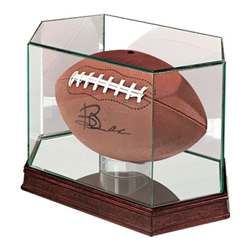 Glass Display Case for Football