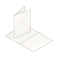 White ​A7 Folded Greeting Cards