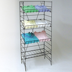 Wire Display Floor Rack
