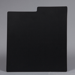 Record Divider Card - BLACK. Indexed.
