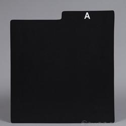 Record Divider Card. Black. PRINTED WITH ALPHABET