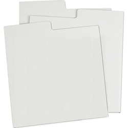 78 Divider Card -WHITE Corrugated. Indexed.