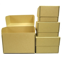 PHOTO BOXES - Acid Free. 40pt. Tan Barrier Board
