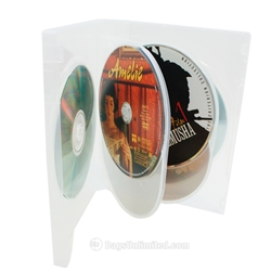 Clear Multi-Disc DVD Case - Holds 6 DVDs