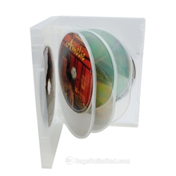 Clear Multi-Disc DVD Case - Holds 8 DVDs
