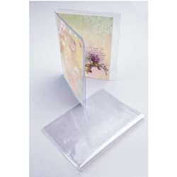 Vinyl Card Set Holders for 4 Bar Greeting Cards