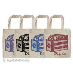 Natural Cotton Tote - Record Crate Design