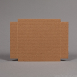 "Corrugated cradle for 7"" record mailer"