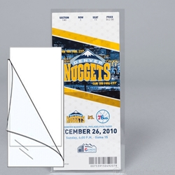 Polyester L-Sleeves for sports tickets.