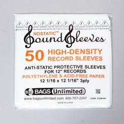 Invest In Vinyl 50 LP Inner Sleeves Anti Static Square Vinyl Record Sleeves 33 RPM 12 Provide Your LP Collection with The Proper Protection