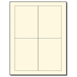 A1/4 Bar Blank Cream Greeting Card Stock