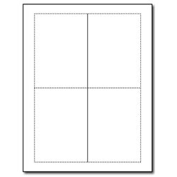 A1/4 Bar Blank Linen White Greeting Card Stock