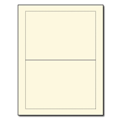 Blank Cream ​A7 Folded Greeting Cards